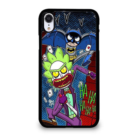coque custodia cover fundas iphone 11 pro max 5 6 7 8 plus x xs xr se2020 C29622 RICK AND MORTY JOKER BATMAN 1 iPhone XR Case