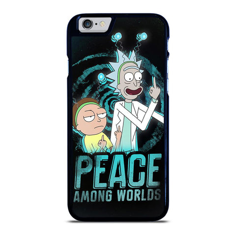 coque custodia cover fundas iphone 11 pro max 5 6 7 8 plus x xs xr se2020 C29660 RICK AND MORTY PEACE AMONG WORLDS iPhone 6 / 6S Case