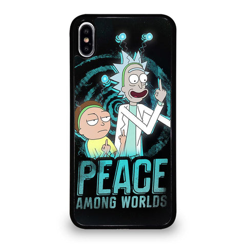 coque custodia cover fundas iphone 11 pro max 5 6 7 8 plus x xs xr se2020 C29666 RICK AND MORTY PEACE AMONG WORLDS iPhone XS Max Case