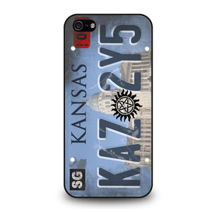 SUPERNATURAL LICENSE PLATE CUSTOM Cover iPhone 5 / 5S / SE