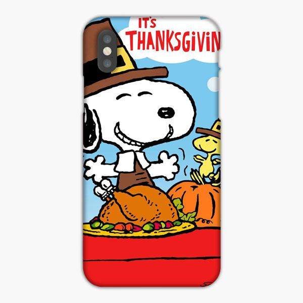 Custodia Cover iphone 6 7 8 plus Snoopy Peanuts Thanksgiving