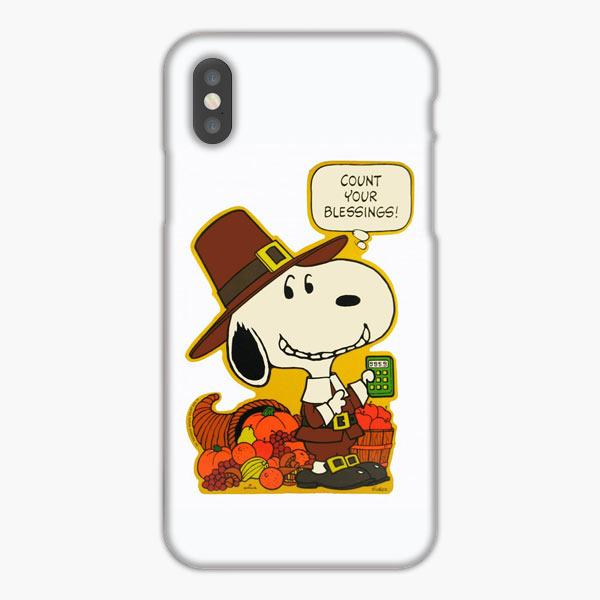 Custodia Cover iphone 6 7 8 plus Snoopy Thanksgiving Blessings