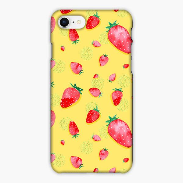 Custodia Cover iphone 6 7 8 plus Strawberry Strawberries Fruit Pattern