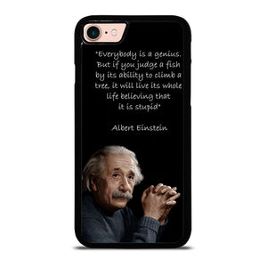THE GENIUS ALBERT EINSTEIN QUOTE Cover iPhone 8