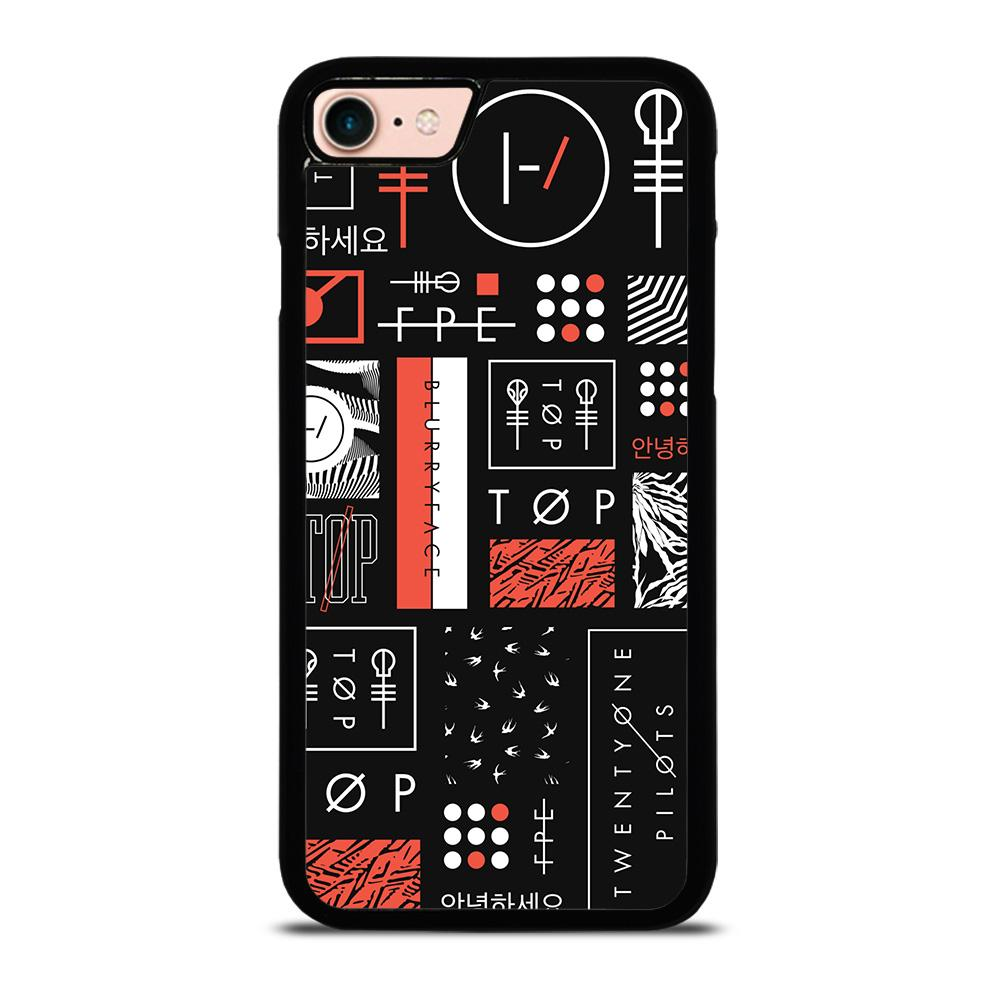 TWENTY ONE PILOTS BLURRYFACE ART Cover iPhone 8