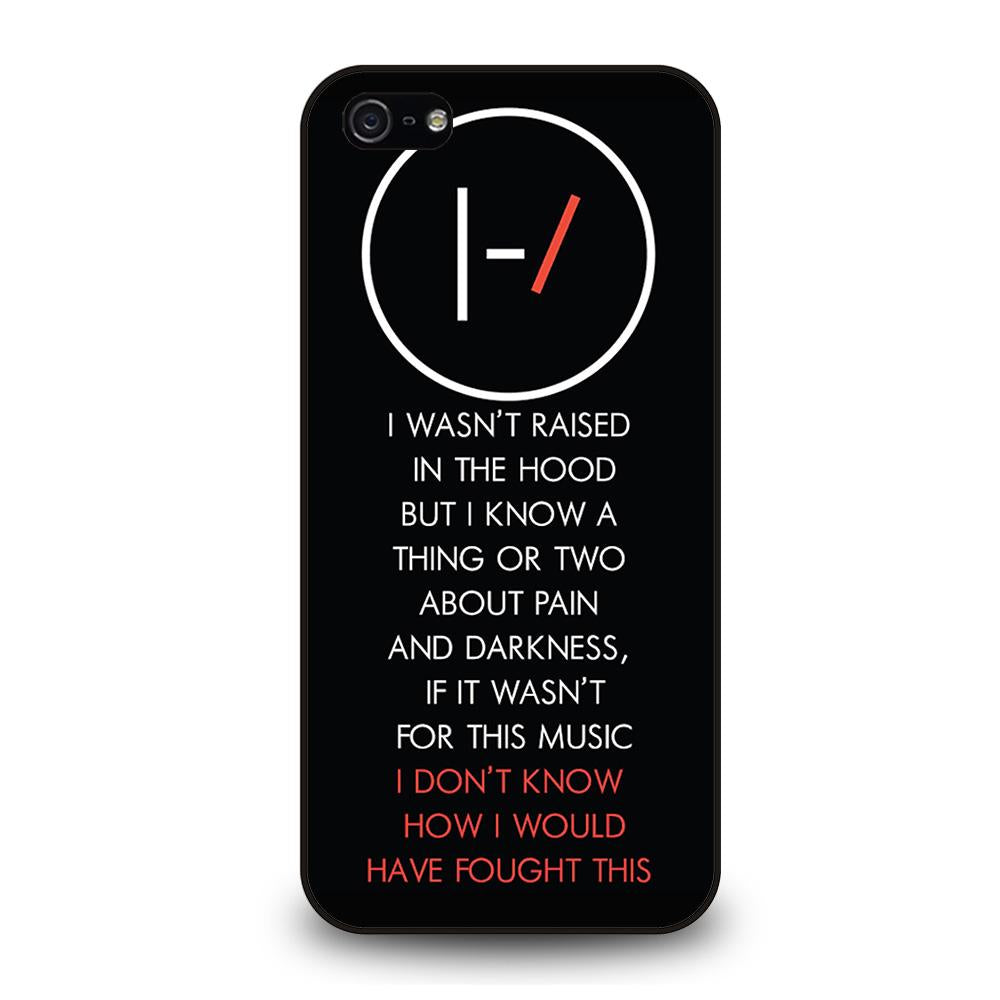 TWENTY ONE PILOTS LYRIC Cover iPhone 5 / 5S / SE