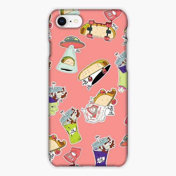 Custodia Cover iphone 6 7 8 plus The Double Deck Taco Bell Pink