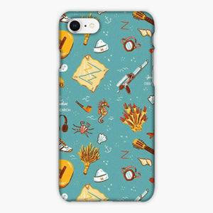 Custodia Cover iphone 6 7 8 plus The Life Aquatic With Steve Zissou Vintage Pattern