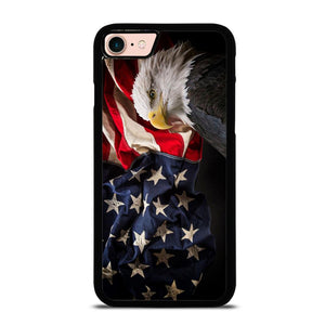 USA PATRIOTIC EAGLE FLAG 2 custodia cover iPhone8
