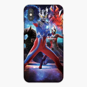 Custodia Cover iphone 6 7 8 plus Ultraman Zero Ultraman Mebius And Ultraman Belial