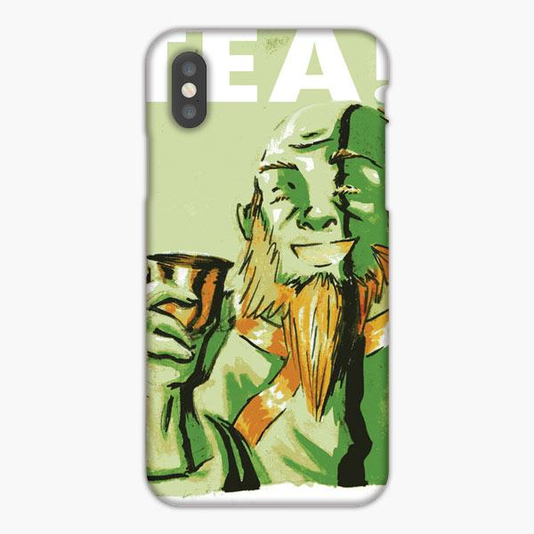Custodia Cover iphone 6 7 8 plus Uncle Iroh Tea Watercolor Green