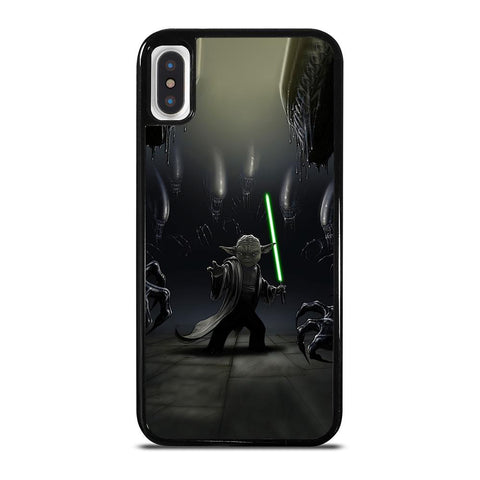 YODA VS ALIENS cover iPhone X / XS,cover iphone xs x apple cover iphone xs,YODA VS ALIENS cover iPhone X / XS
