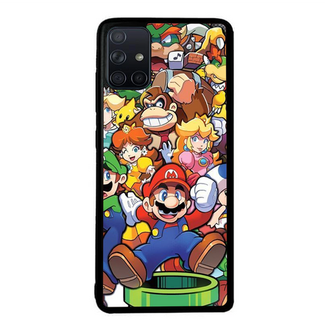 coque custodia cover fundas hoesjes j3 J5 J6 s20 s10 s9 s8 s7 s6 s5 plus edge B37215 Super Mario Party FF0083 Samsung Galaxy A51 Case