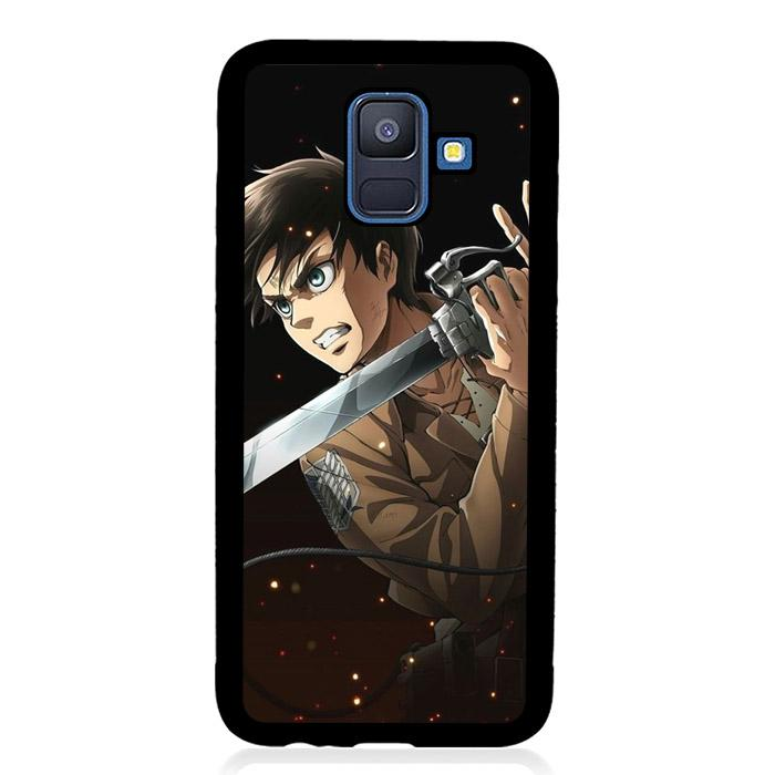 coque custodia cover fundas hoesjes j3 J5 J6 s20 s10 s9 s8 s7 s6 s5 plus edge B9636 Anim Attack On Tittan FF0328 Samsung Galaxy A6 2018 Case