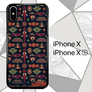 Captain Marvel Logo O6711 custodia iPhone X, XS