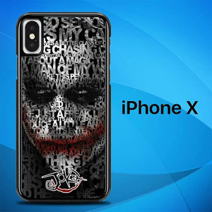 Joker Quotes Batman O7620 custodia iPhone X, XS