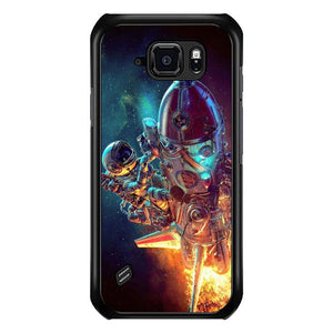 coque custodia cover fundas hoesjes j3 J5 J6 s20 s10 s9 s8 s7 s6 s5 plus edge B10283 Astronaut B0334 Samsung Galaxy S6 Active Case