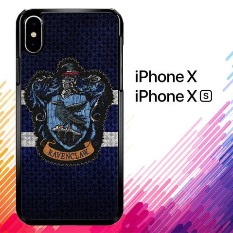 Harry Potter Knit Ravenclaw Wall Crest Logo F0185 custodia iPhone X, XS