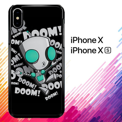 invader zim gir doom song Z0621 custodia iPhone X, XS