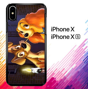 LADY AND TRAMP DISNEY Z1223 custodia iPhone X, XS