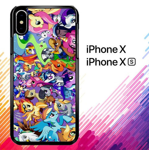 MY LITTLE PONY COLLAGE Z1359 custodia iPhone X, XS