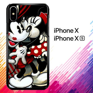 Hugs and Kisses  Mickey Minnie mouse Z1557 custodia iPhone X, XS