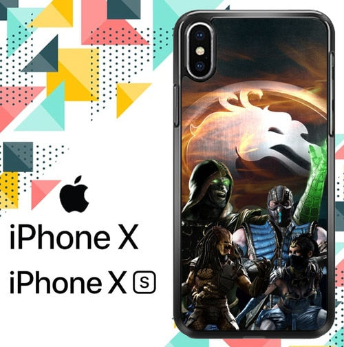 mortal kombat Z3347 custodia iPhone X, XS