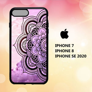 custodia cover iphone 5 6 7 8 plus x xs xr case O7492 wallpaper mandala 244bY3