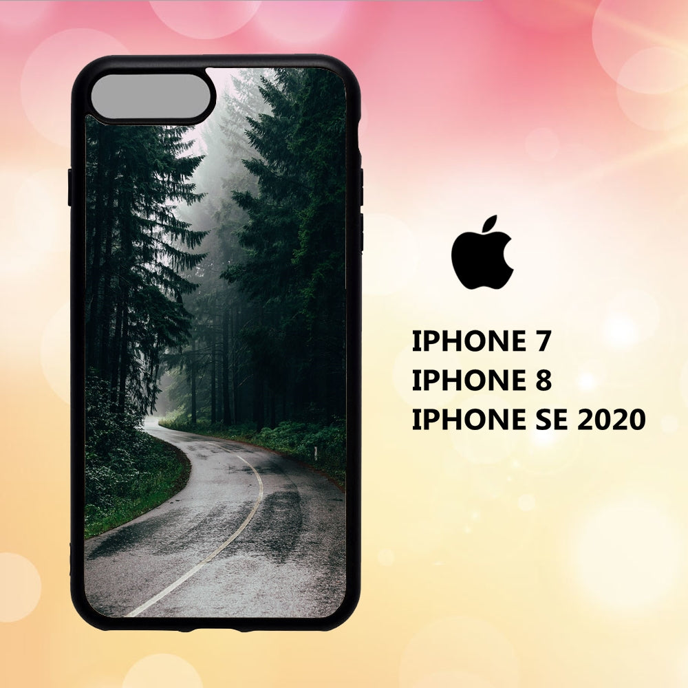 custodia cover iphone 5 6 7 8 plus x xs xr case V4019 wallpaper foret 232nO5