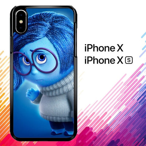 Disney Sadness Inside Out X4376 custodia iPhone X, XS