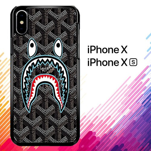 bape goyard black X5868 custodia iPhone X, XS