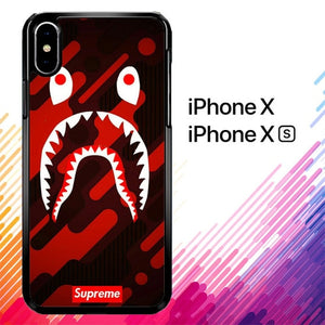 Bape Wallpapers X8643 custodia iPhone X, XS