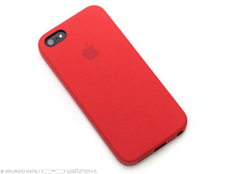 apple custodia in pelle iphone 5 e iphone 5s rosso