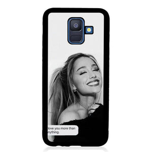 coque custodia cover fundas hoesjes j3 J5 J6 s20 s10 s9 s8 s7 s6 s5 plus edge B10121 Ariana Grande Quotes Q0275 Samsung Galaxy A6 2018 Case