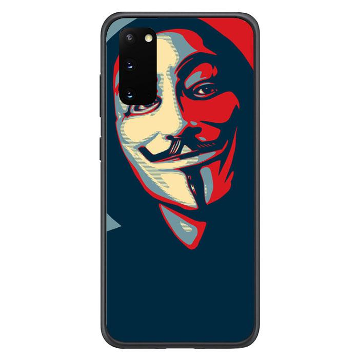 coque custodia cover fundas hoesjes j3 J5 J6 s20 s10 s9 s8 s7 s6 s5 plus edge B9897 Anonymous J0253 Samsung Galaxy S20 Case