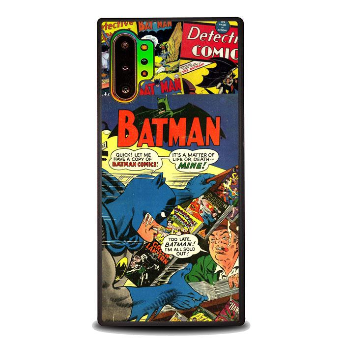 coque custodia cover fundas hoesjes j3 J5 J6 s20 s10 s9 s8 s7 s6 s5 plus edge B11950 Batman Comic Art J0621 Samsung Galaxy Note 10 Plus Case