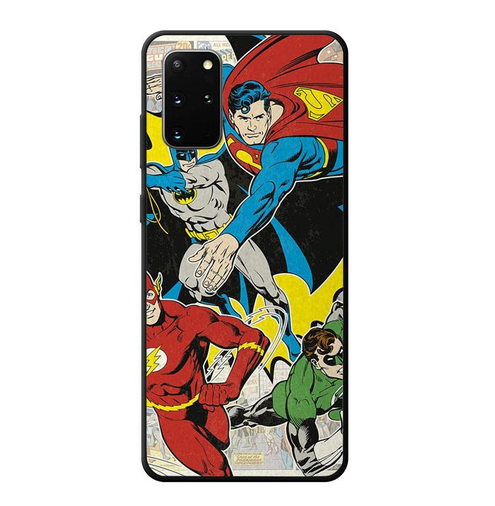coque custodia cover fundas hoesjes j3 J5 J6 s20 s10 s9 s8 s7 s6 s5 plus edge B9439 All Super Heroes Of DC J0634 Samsung Galaxy S20 Plus Case