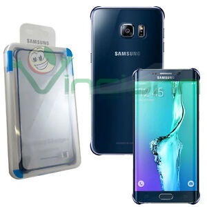 CLEAR COVER Originale Per Samsung Galaxy S6 Edge+ PLUS G928F Custodia Slim  Blu