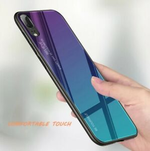 COVER HUAWEI P20/P30 LITE ORIGINALE GRADIENTE GLASS CON RETRO VETRO  TEMPERATO