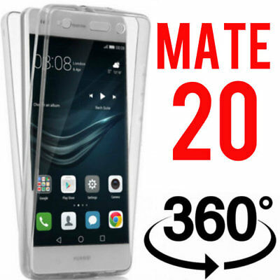 COVER PER HUAWEI MATE 10 LITE FULL BODY 360 FRONTE RETRO CUSTODIA  TRASPARENTE