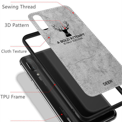 Per Huawei Mate 20 Lite P20/8X/Pro case ultra slim antiurto in Tessuto TPU  Cover