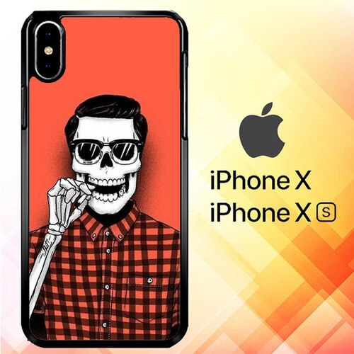 Hell Yeah red Flanel P0442 custodia iPhone X, XS