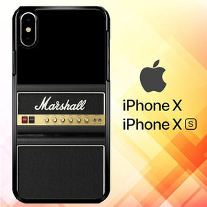 Marshall Guitar Amplifier P1307 custodia iPhone X, XS
