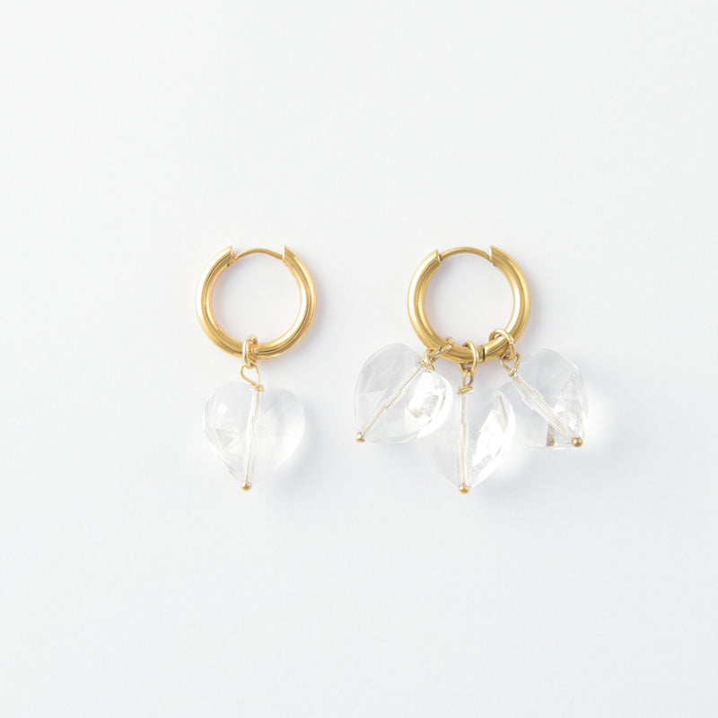 More Amore Bianco Hoops