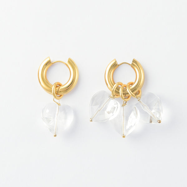 More Amore Grande Bianco Hoops