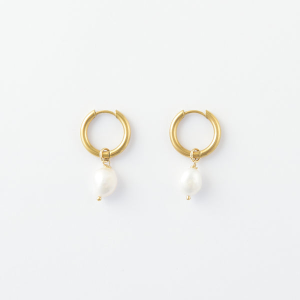 Julie One Pearl Hoops