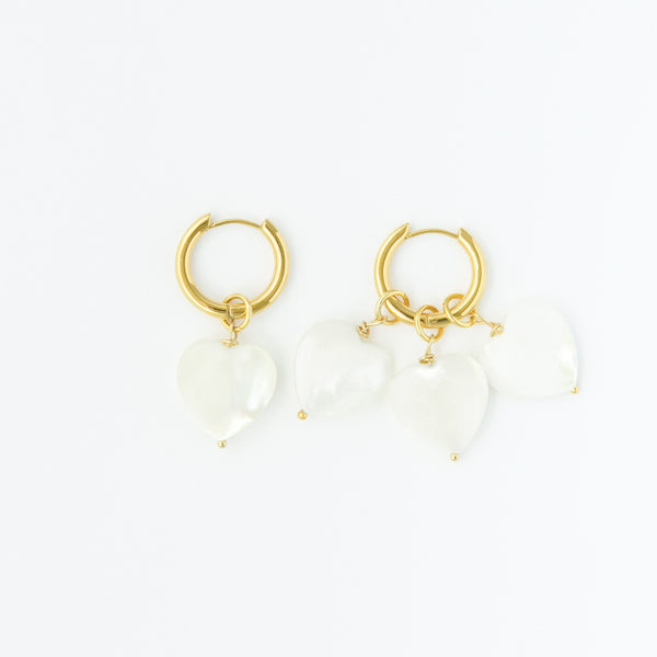 More Amore Pearl Hoops