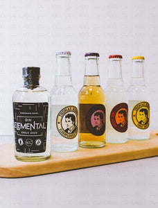 Pack Mini Gin Elemental + Mix Aguas Tónica Thomas Henry
