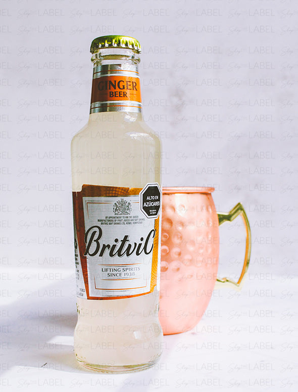 Ginger Beer Britvic y un mug de London Mule