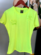 Load image into Gallery viewer, Neon Yellow Gold Girls Drip Tee